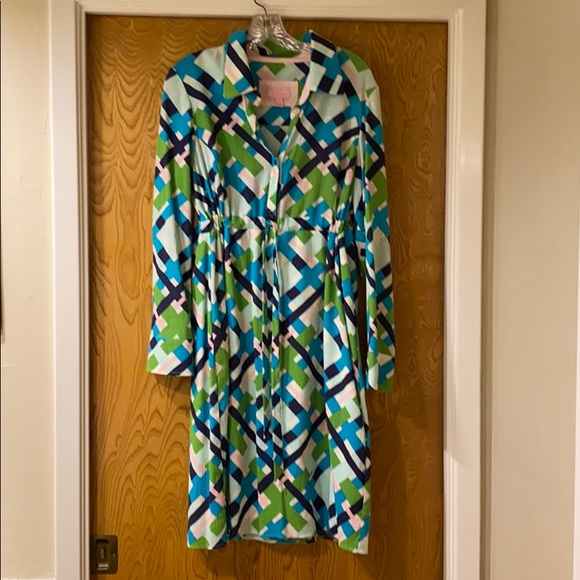 Lilly Pulitzer Dresses & Skirts - Lilly Pulitzer shirt dress size 12